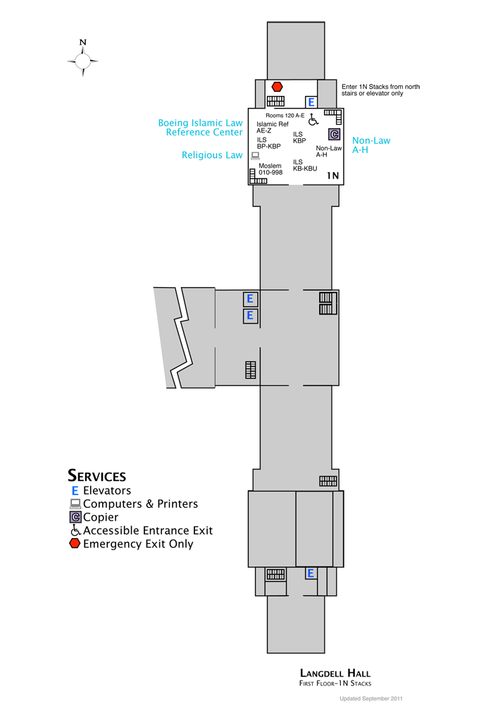 Langdell First Floor Map