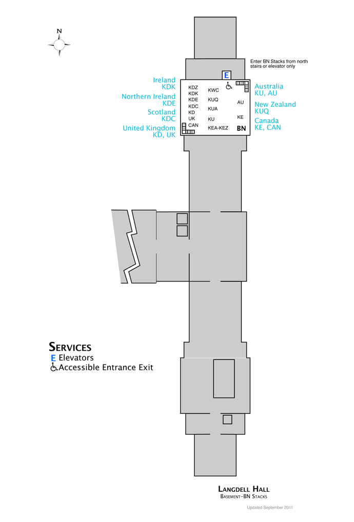 Langdell Basement Map